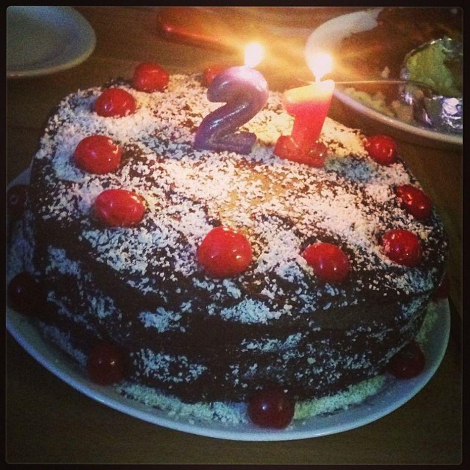 21 21stbday 21stbirthday Legally21 officially21 deathbychocolate cake cocoa chocolate chocolatecake whitechocolate darkchocolate cherries cherry candles happybirthdaytome happybirthday