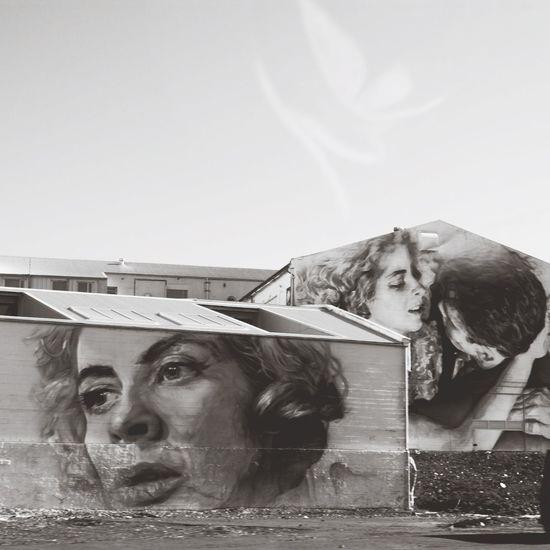 Houses w personalities Graffiti Taking Photos Street Art