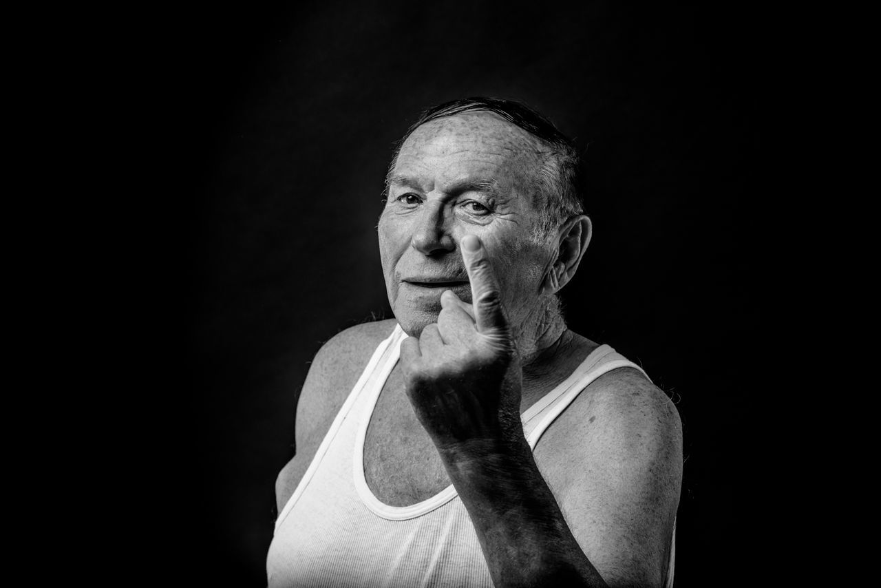 Adult Adults Only Black And White Black Background Black Background Blackandwhite Close-up Confidence  Gray Hair Headshot Human Body Part Looking At Camera Looking At Camera One Man Only One Person Only Men People Portrait Portrait Photography Real People Senior Adult Senior Men Strength Studio Photography Studio Shot The Portraitist - 2017 EyeEm Awards