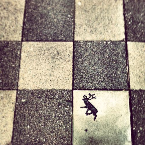 Reindeer street art Reindeer Sighting Lapland Pavement Street Art Pattern Pieces Art Is Everywhere