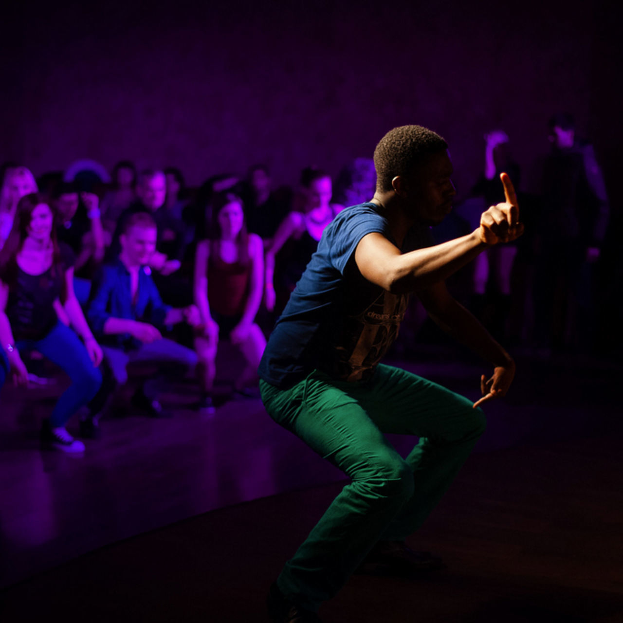 Music Performance Nightlife Arts Culture And Entertainment Purple People Nightclub Night Men One Person Event Dance Dancer Light And Shadow Atmospheric Mood