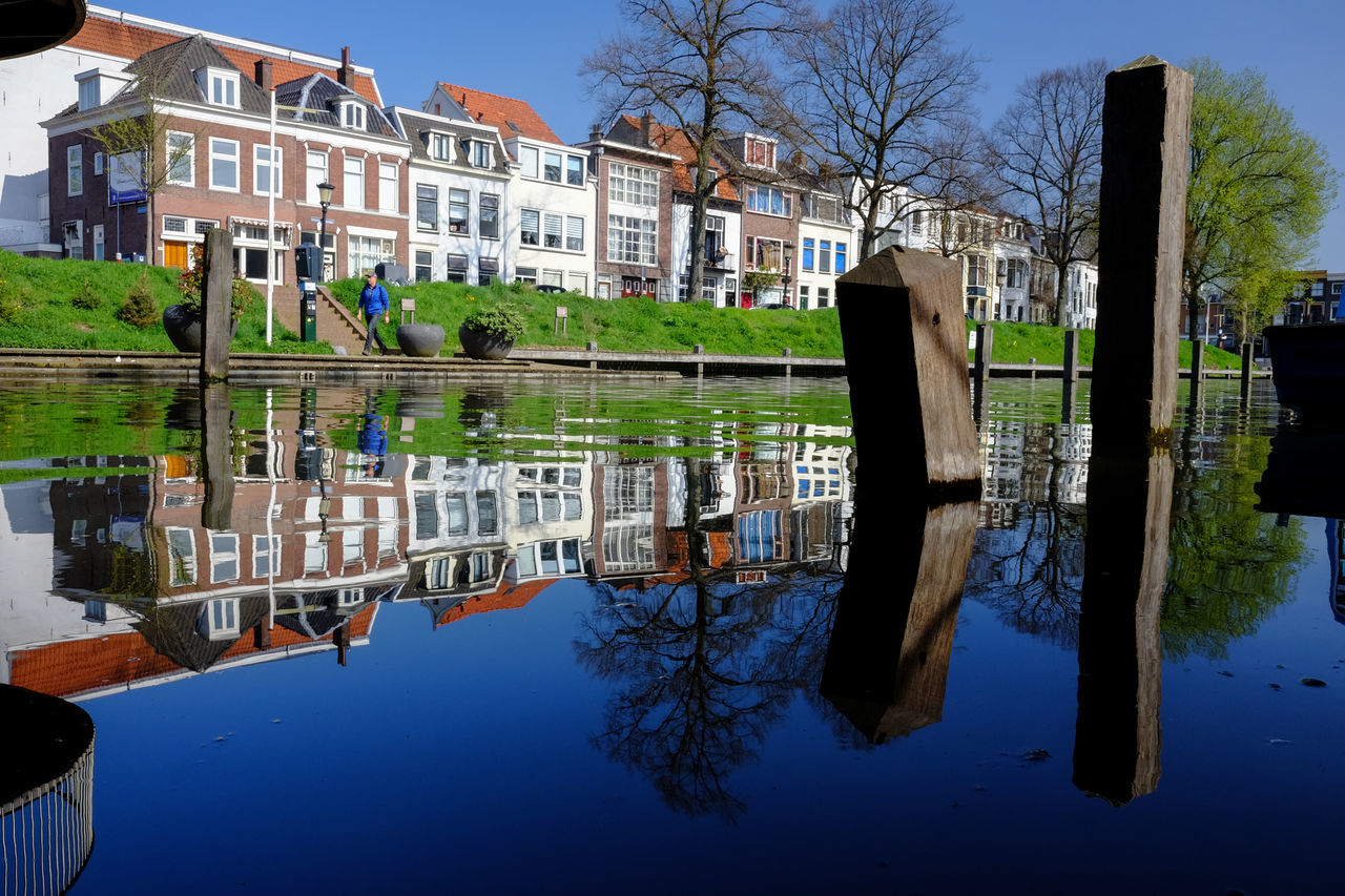 Utrecht canal reflections Architecture Building Exterior Built Structure Canal City Day Gracht Holland Nature Ne No People Outdoors Reflection Sky Standing Water Tree Urban Utrecht Water Waterfront