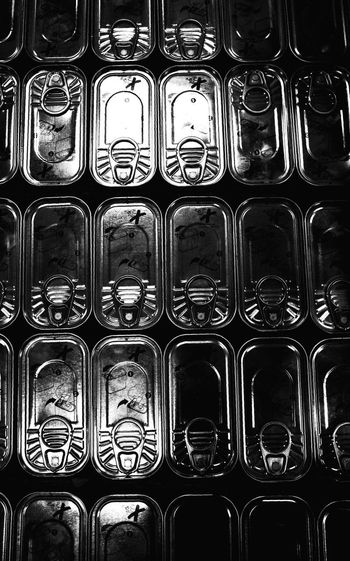 canned goods Canadian Fullframe Blackandwhite Monochrone Bnw Full Frame Backgrounds Indoors  Pattern No People Close-up Day