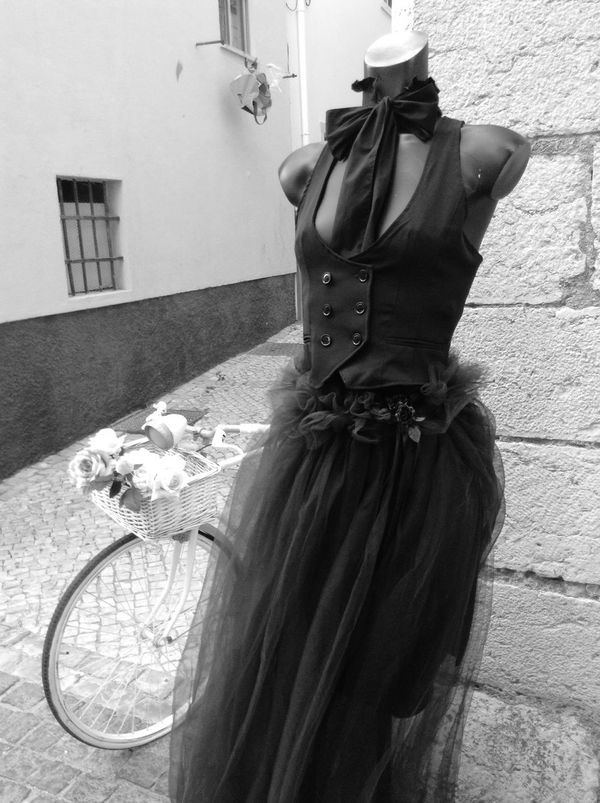 What Do You See When You Look At Me Urban Outfitters Street Fashion Dressed Up Black & White Old Town Bicycle Blackandwhite Photography