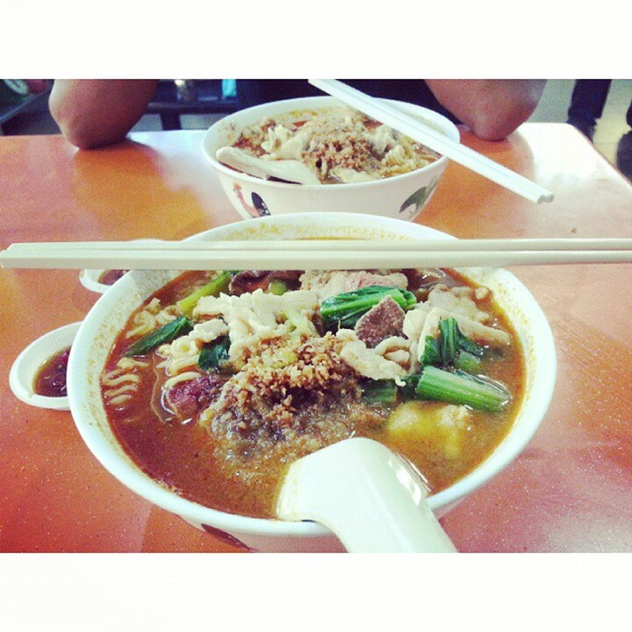 Spicy normal kkm for lunch with @jyangsaw YumYum Lunch Kkm Finally