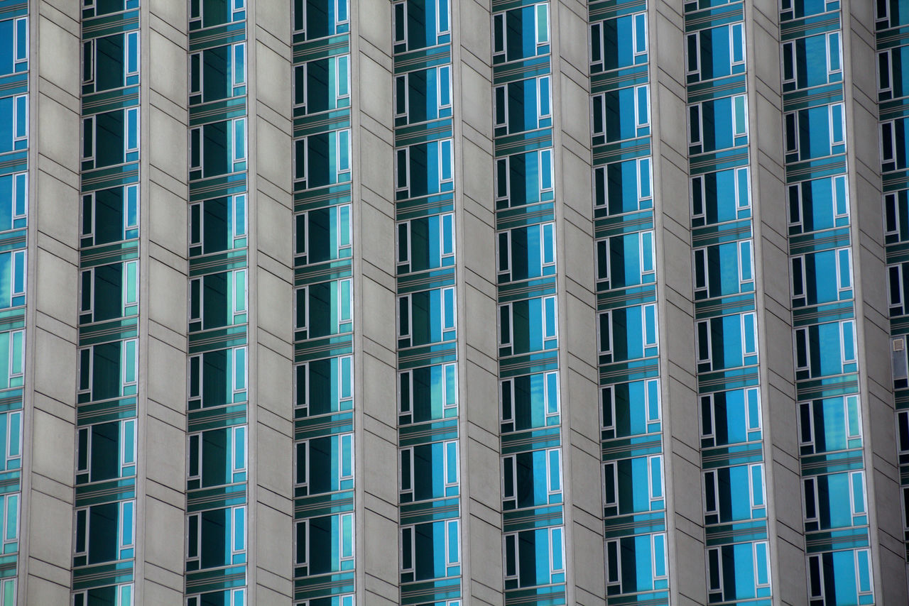 Architecture Backgrounds Building Exterior Built Structure City Day Full Frame Modern No People Office Block Outdoors Pattern Repetition Skyscraper Symmetry Window Windows