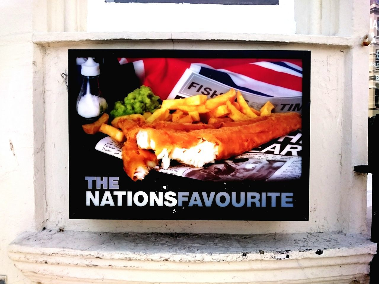 Fishnchips Fishandchips Englishtradition English England Food Poster Sign Brighton Union Jack Favourite Lightbox Urban Landscape Streetphotography