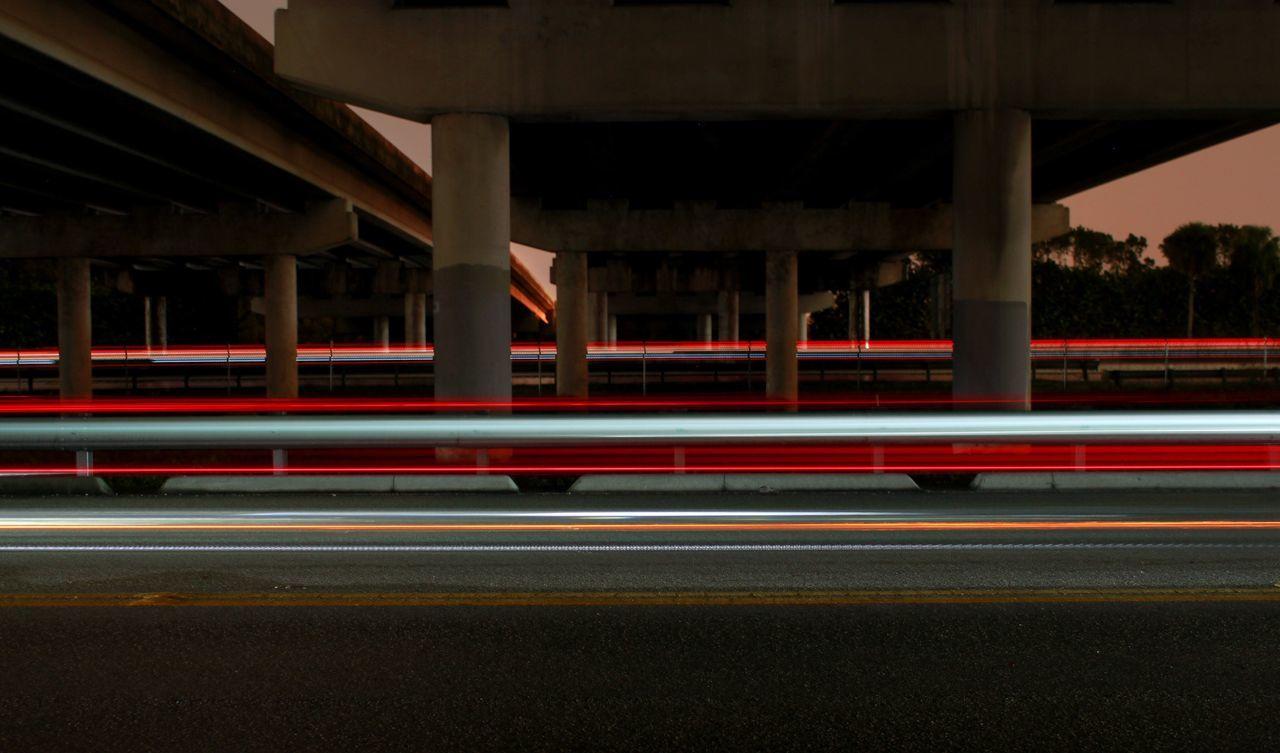 Long Exposure Light Trail Illuminated Night Summer Blurred Motion Road Highway Boca Raton Turnpike Cars