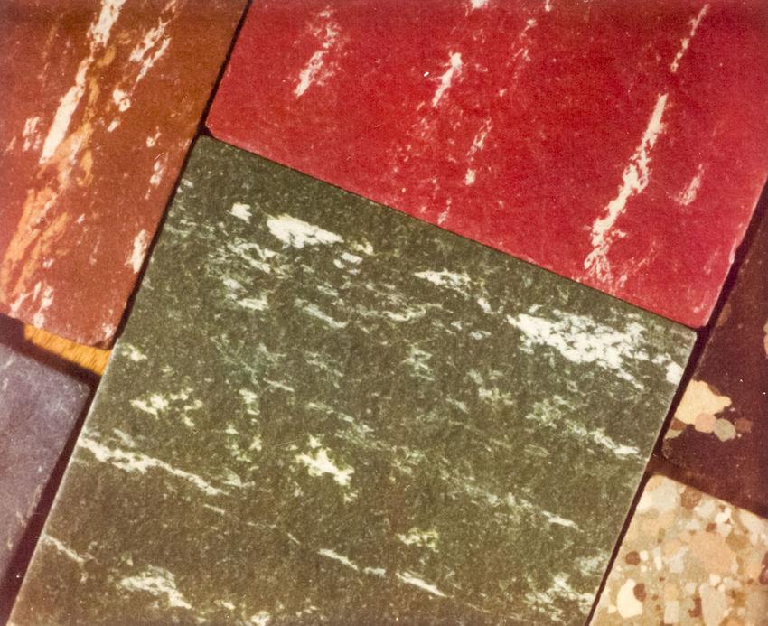 Asphalt Close-up Green Color High Angle View Linoleum No People Red Retro Samples Tile