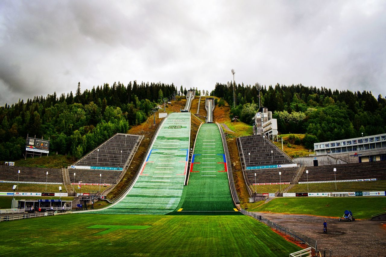 Skijump Skijumping Lillehammer Lillehammer2016 Norway Norge Norge🇳🇴 Construction Green Grass View Day Scenics Photography Photo Cloud - Sky Skocznia Narciarska