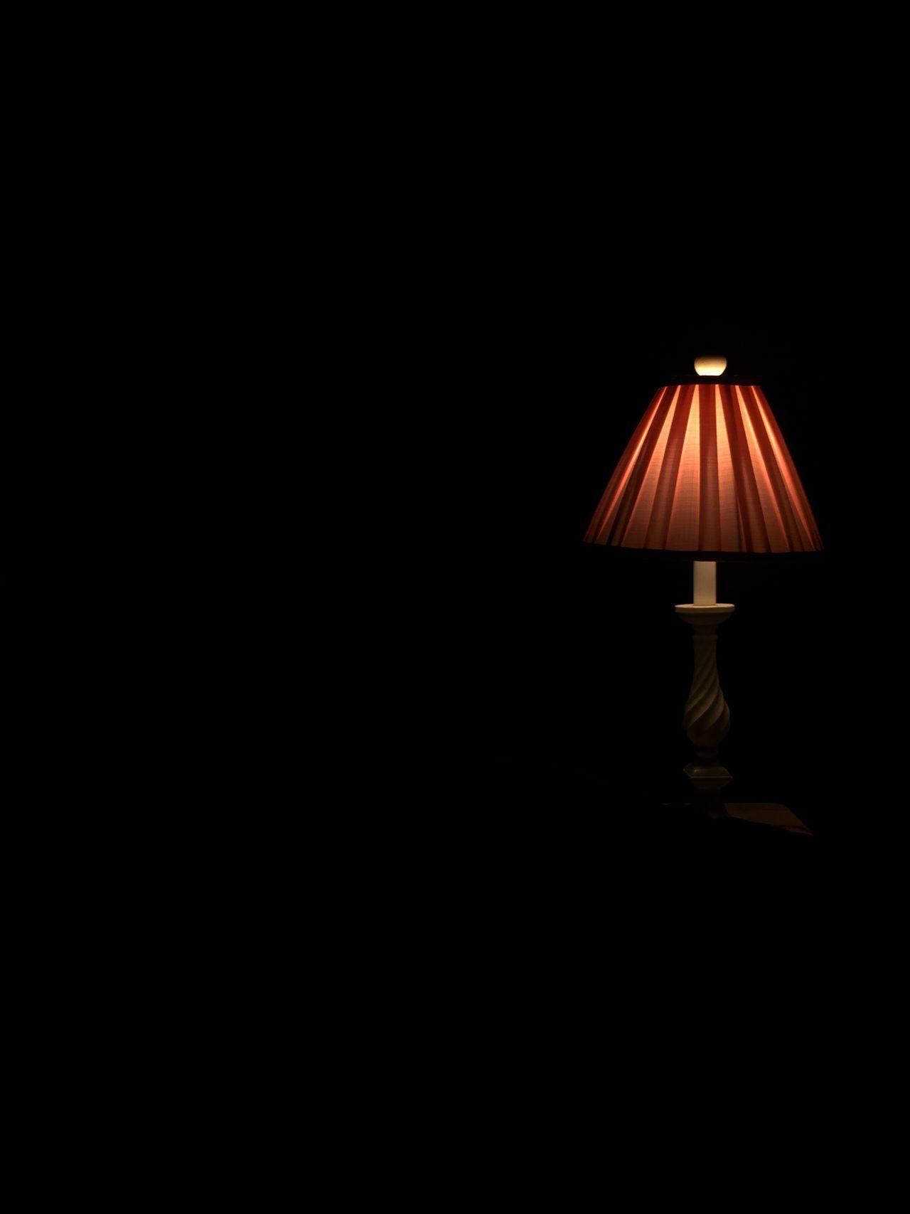 Lamp in the dark. Lamp, Light, Dark, Pink