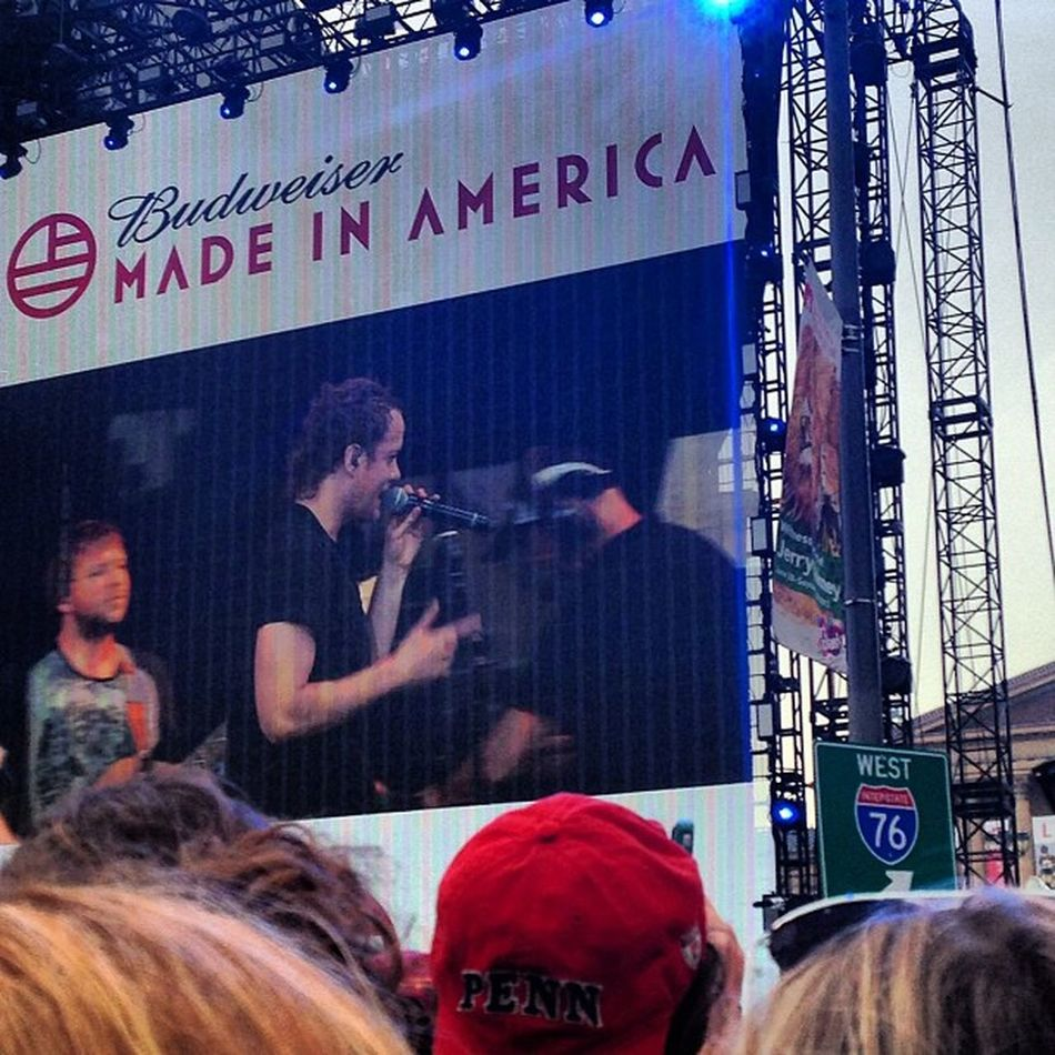 Philly is great. Madeinamericafestival ImagineDragons Awesomeperformance