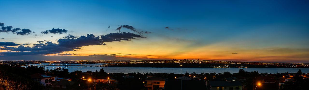 Twilight skyline from Brasilia Brasília Brasília - Brazil Brazil City Lights Night Panorama Panoramic Sky Skyline Sunset Twilight