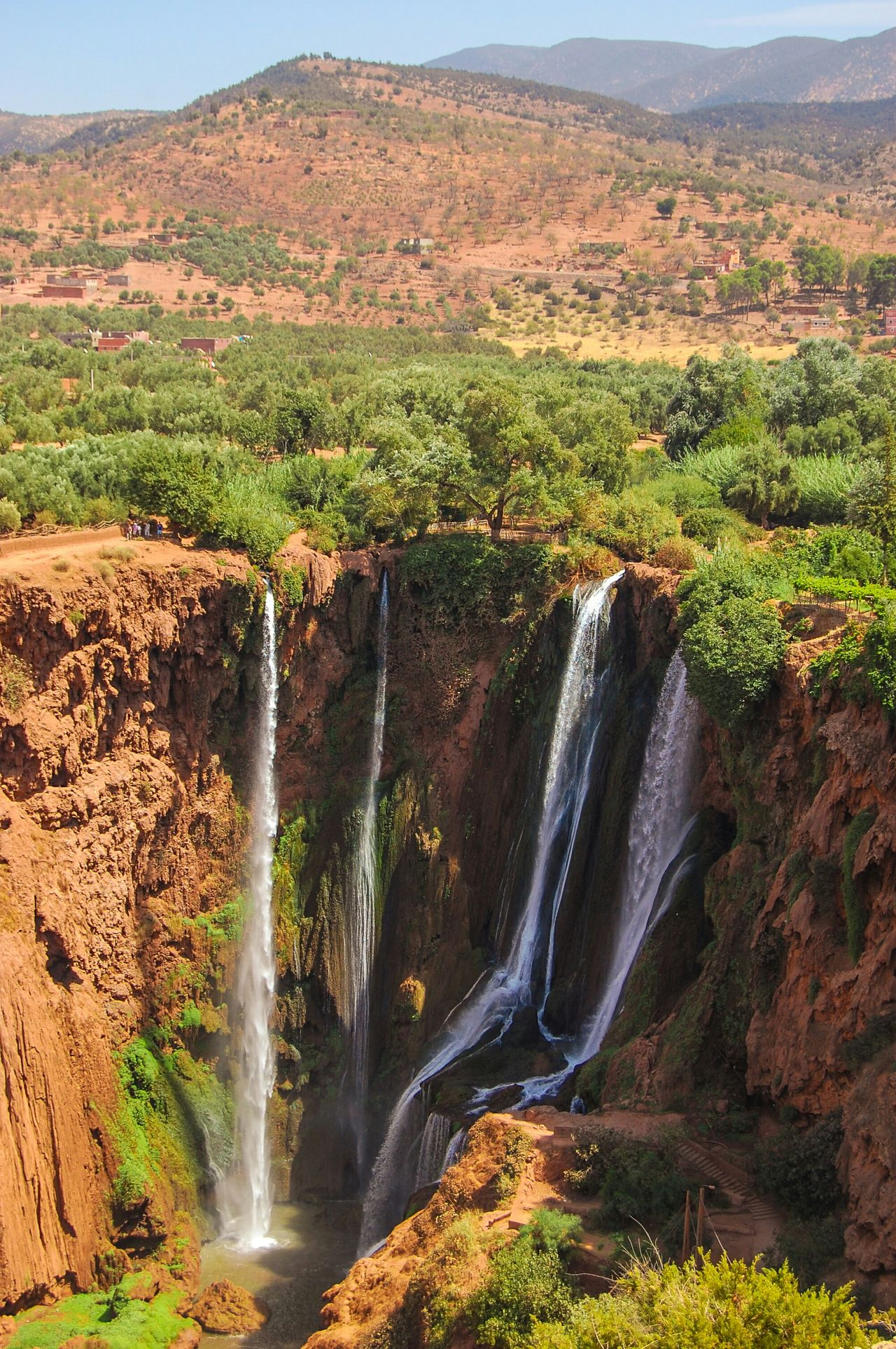 Ouzoud Falls from above Adventure Trek Adventure MoroccoTrip Morocco Ouzoud Cascade Ouzoud Canyon Nature Landscape Travel The KIOMI Collection