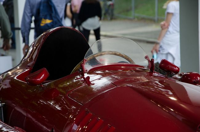 LANCIA D50 Car Cars City Life Close-up Cropped Day Focus On Foreground Italia Italy Lancia LANCIA D50 Land Vehicle Leisure Activity Lifestyles Mode Of Transport Outdoors Part Of Red Stationary Supercar Torino Turin