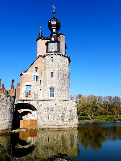Havre Mons #belgium #château #castle  #castello #Ciel  #soleil Blue Clear Sky Sky Outdoors No People Day Clock Tower Architecture Building Exterior