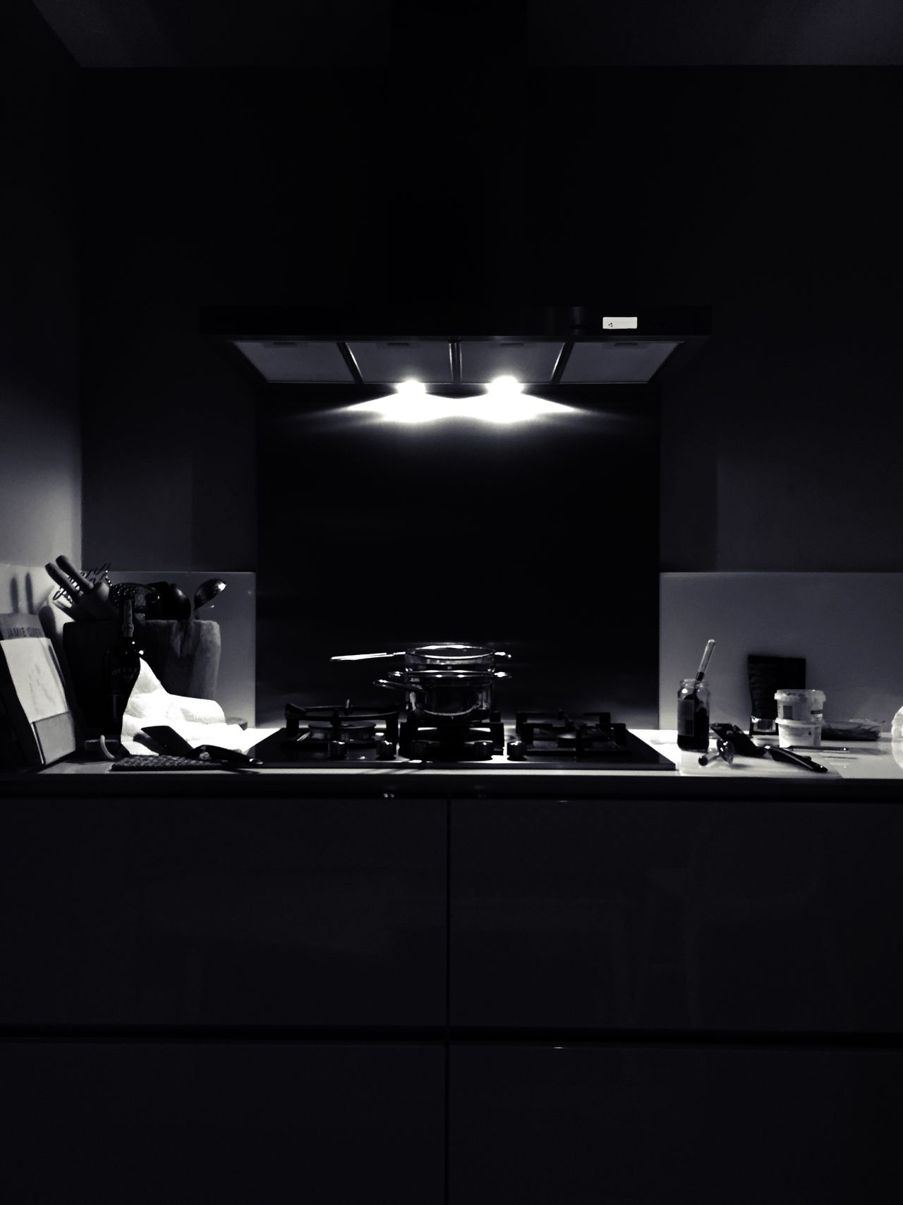 Kitchen Blackandwhite Monochrome Interior Light And Shadow