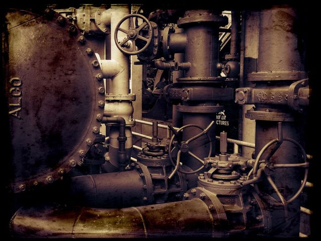 Gasworks Machine Part Obsolete Pipe Valve Machinery Industrial Area Abandoned Places Refinery Industrial Auto Post Production Filter Steampunk