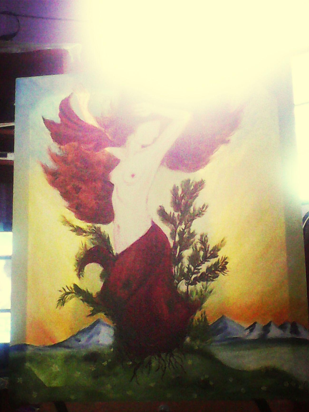 Disculpa la luz y le falta la cara y unos detalles *--* Art Ninfa Apollo&dafne Dafne