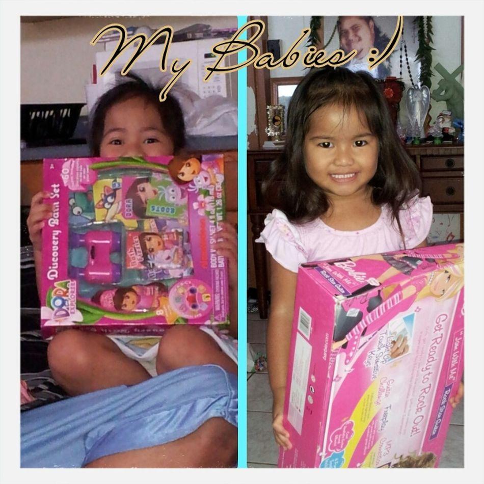 My girls on CHRISTmas day. I love them :)