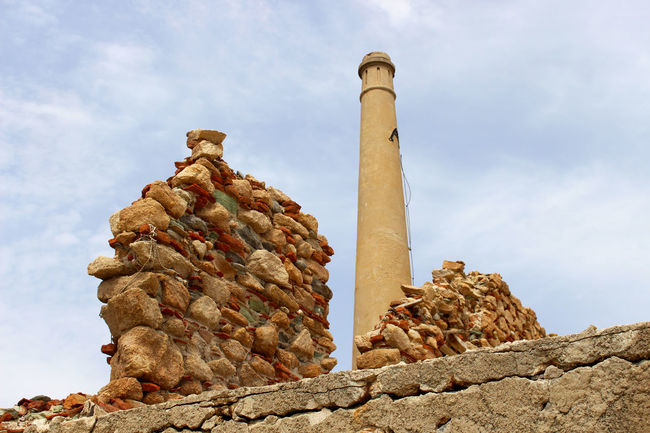 Abandoned Abandoned & Derelict Abandoned Buildings Abandoned Places Abandonedbuilding Abandonedplaces Deterioration Factory Factory Building Factory Chimney Greece Lesbos Lesvos Low Angle View No People Wall