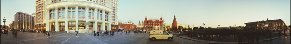 Panorama in Moscow Light And Shadow