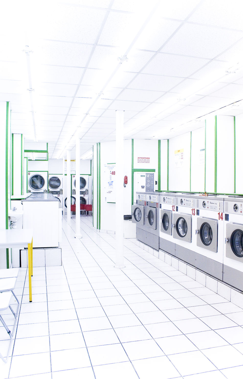 Clean Day Futuristic Indoors  Laundry Laverie Modern No People