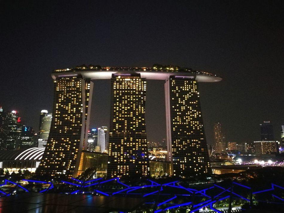 Marina Baysand Night City Boat in the sky Singapore