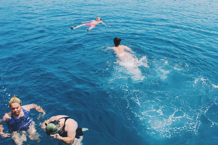 Enough blue for everyone in the world! Water Sea Blue Swimming Fun Summer Vacations Outdoors Chance Encounters