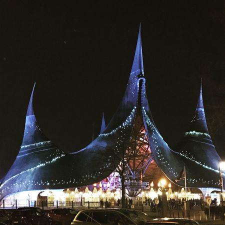 Night Christmas Decoration Christmas Lights Illuminated Architecture Christmas Built Structure