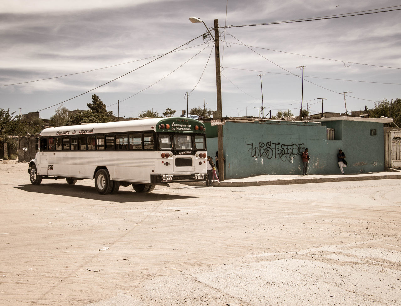 Waiting on the bus City Day Juarez Mexico No People Outdoors Sky Train - Vehicle Transportation Travel