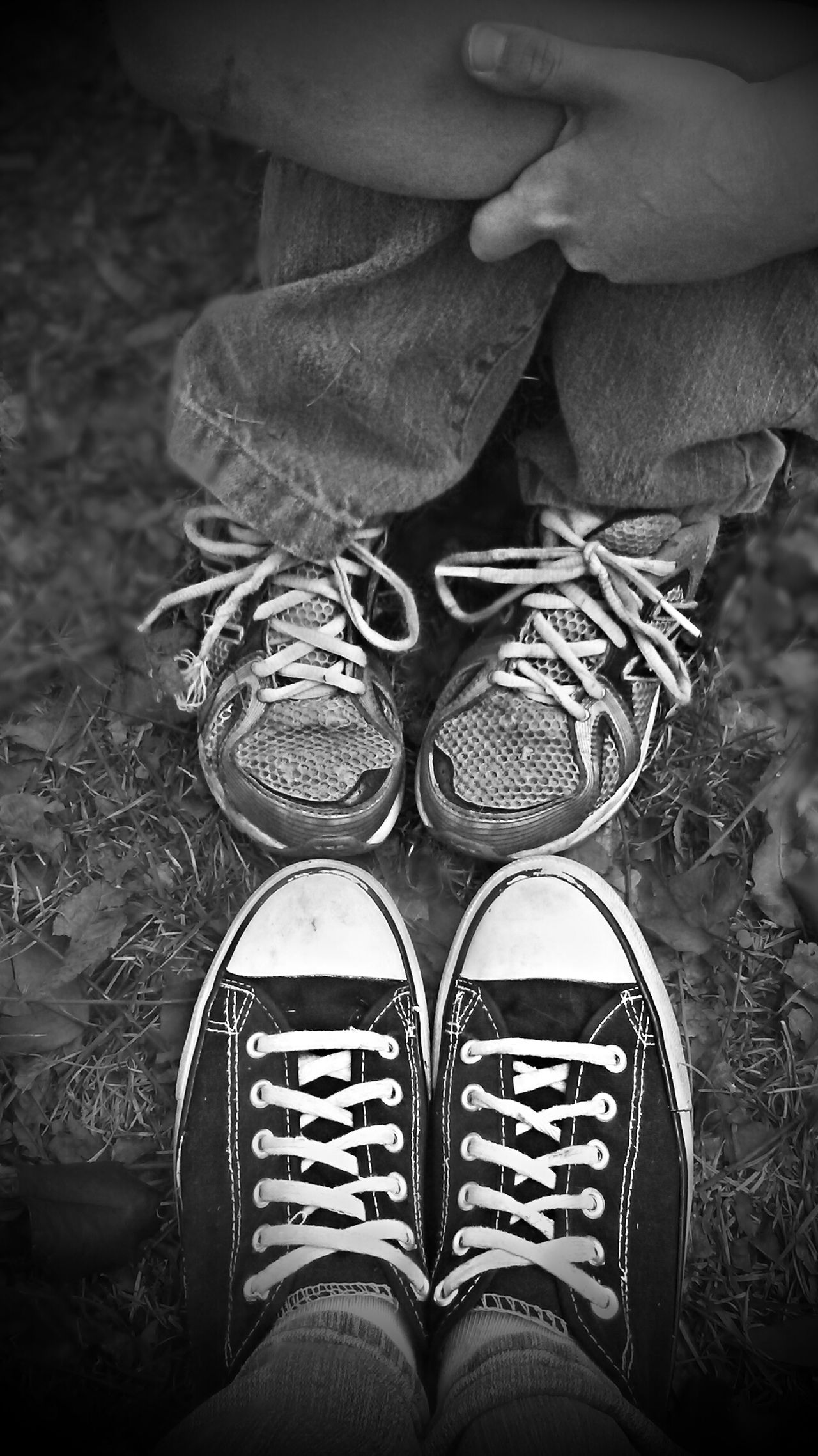 Shoe Human Body Part Human Leg Low Section Personal Perspective Close-up Real People People Lifestyles Canvas Shoe Day Monochrome Blackandwhite Love Peace Og Picturesque Mobile AL Tranquility Southern Son Mother Play Playground