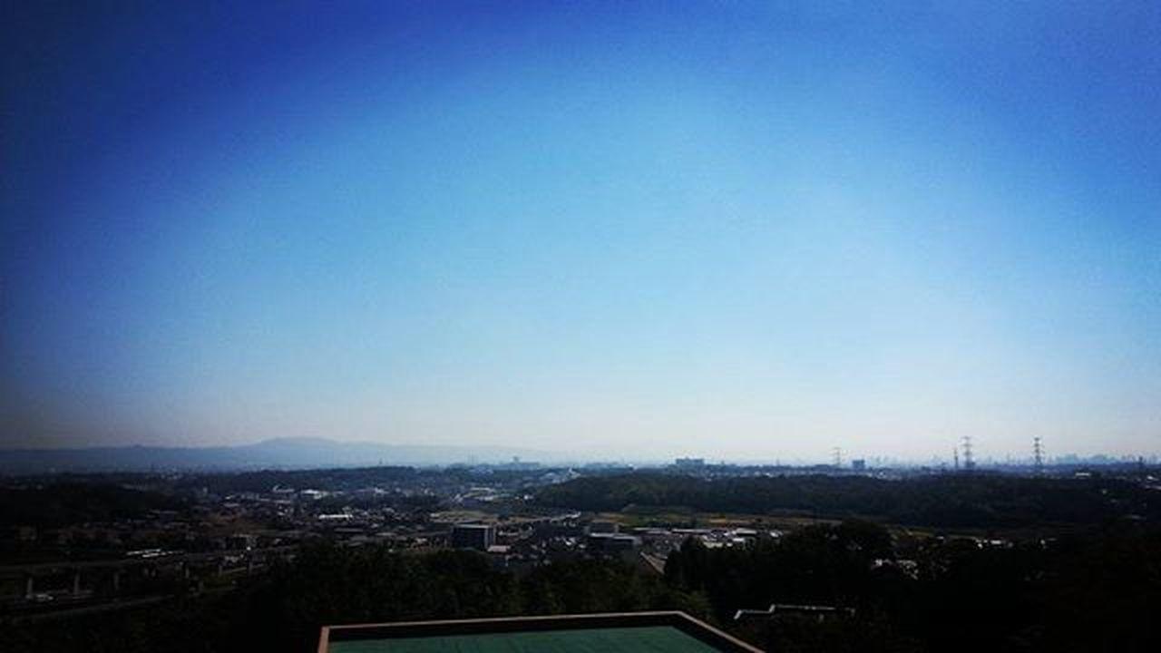 箕面キャンパスより。千中、梅田方面の景色。 大阪大学 大阪外国語大学 箕面キャンパス 粟生間谷 風景 Scenery Shots