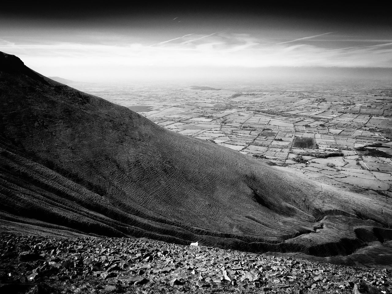 The Golden Vale ☘ Beauty In Nature Black & White Black And White County Limerick Day Galtee Mountains Golden Vale Ireland Landscape Landscapes Mountain Nature No People Outdoors Physical Geography Scenics Sheep Sky Tranquil Scene Tranquility The Great Outdoors - 2017 EyeEm Awards
