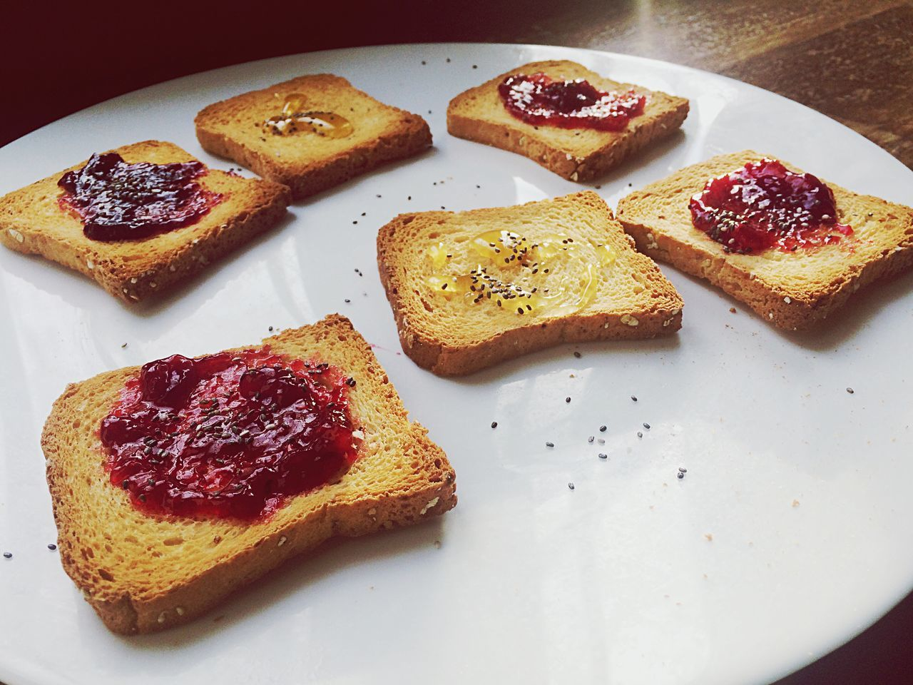 Feeling Thankful Breakfast Jellyfruits Food Food And Drink Toasted Bread Plate Ready-to-eat Bread No People High Angle View Indoors  Healthy Eating SLICE Freshness Sandwich Day Buongiorno Buenosdias Bomdia Chiaseeds Rome, Italy Getting Inspired Creativity Getting Creative