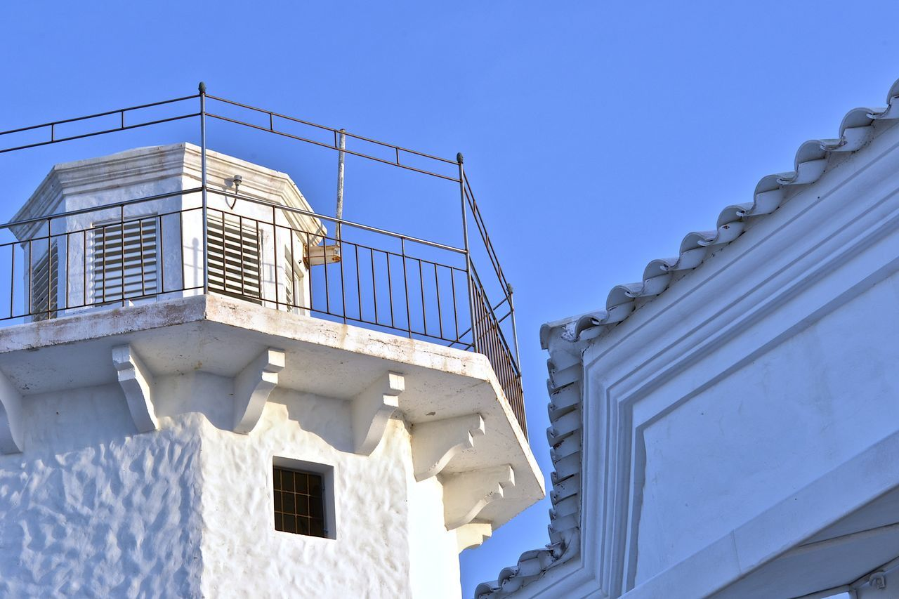 Angles Architecture Architecture Building Exterior Built Structure Casa De Campo Day La Romana, Dominican Republic Lighthouse Low Angle View Nautical Theme No People Outdoors Port Rails Shingles Sky White Window The Architect - 2017 EyeEm Awards