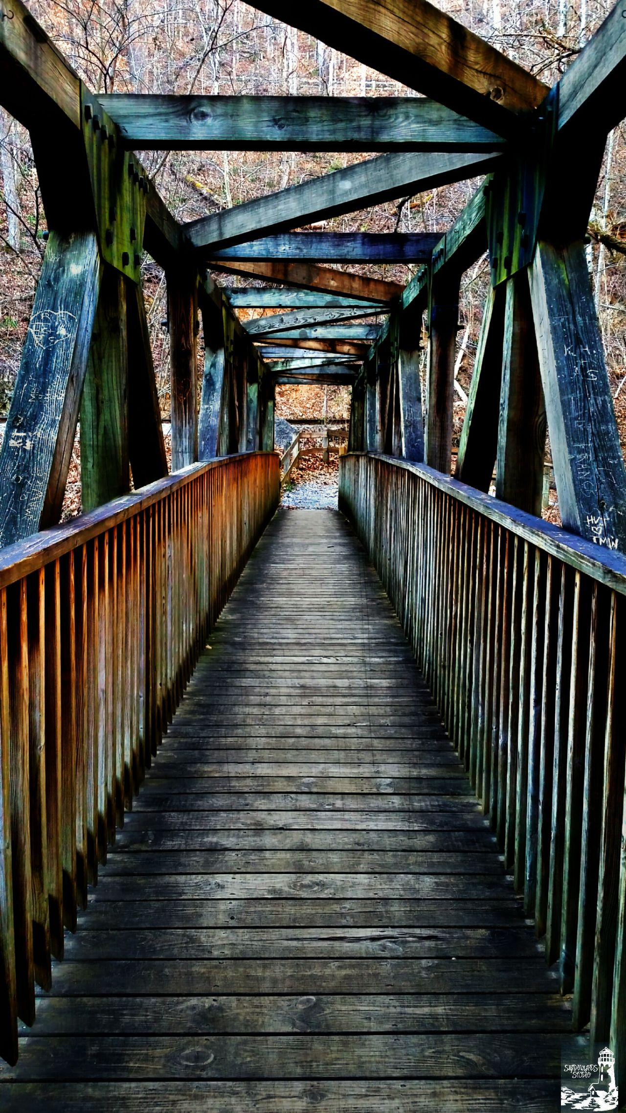 EyeEmNewHere Bridge - Man Made Structure Architecture Built Structure The Way Forward Wood - Material Day Footbridge Covered Bridge Outdoors Architectural Column No People Nature