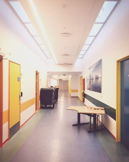 Hospital Hallway Sickness Waiting Colors Denmark Health Security Doctor