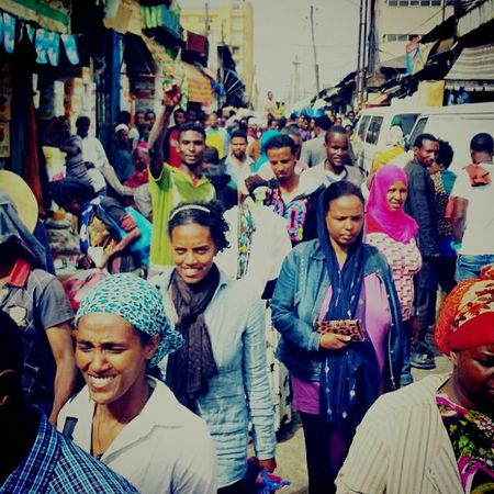 People on a market in Addis Abeba capital off Ethiopia. Ethiopia Market Addis Ababa People