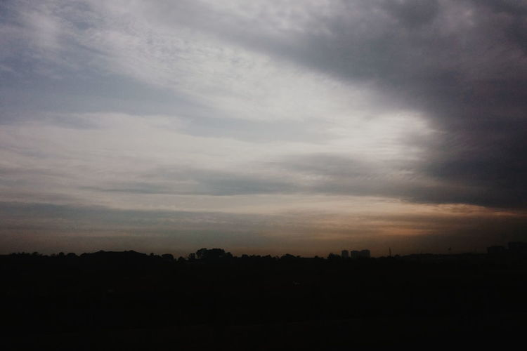 Skysoul. Silhouette Landscape Scenics Tranquil Scene Tranquility Sky Cloud - Sky Beauty In Nature Nature Dark Calm Cloud Idyllic Outline Majestic Cloudscape Cloudy Non-urban Scene Outdoors Atmosphere