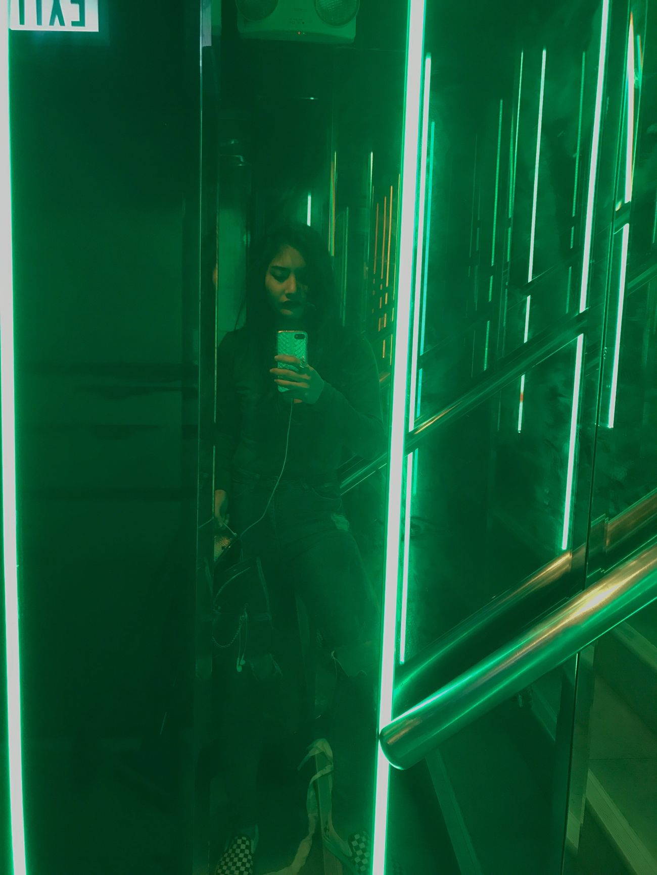 Every second you will not regret it One Person Real People Young Women Green Color Enjoying Life Night So Happy DOPE Selfie That's Me SexyGirl.♥ FeelingMyself Escaping ShowMeYourDarkSide Last Drink, I Promise Living Dangerously LastNight :)