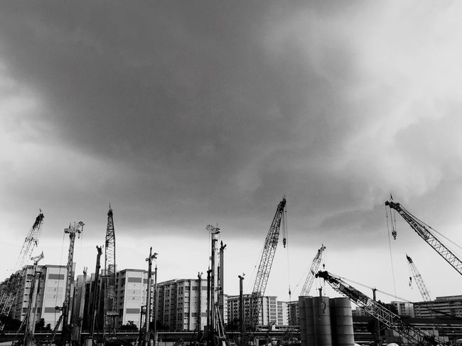 The Changing City Construction IPhoneography Bw_collection Black & White