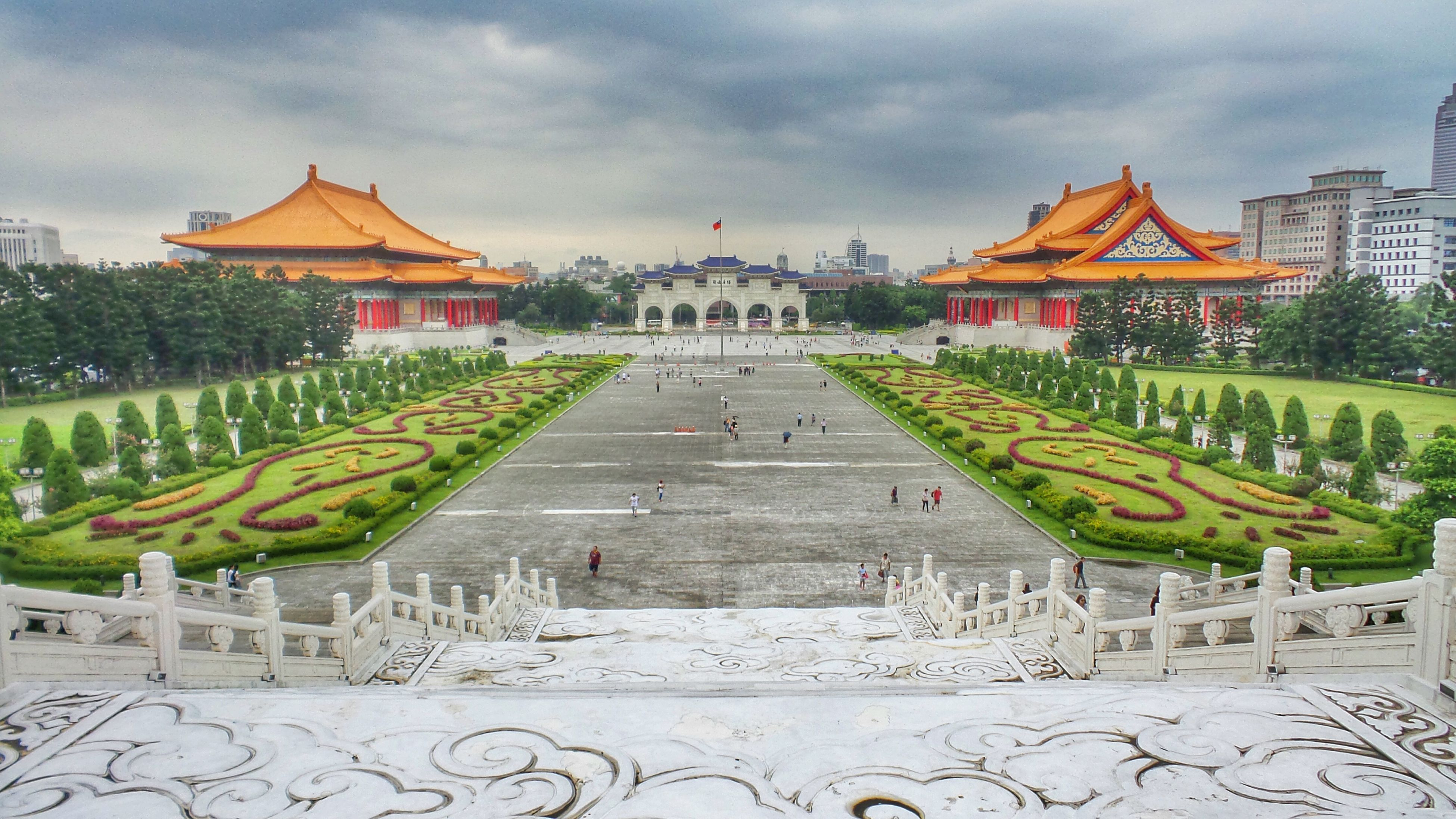 Taiwan Taipei Freedom Square  Memorial Archway Clouds And Sky Chiang Kai-shek Memorial Hall Music Hall Opera House Traveling Travel Photography 台湾 台北 自由广场 忠正纪念堂 歌剧院 音乐厅 EyeEm Best Shots Eyeemphotography EyeEm Gallery Lovetaiwan