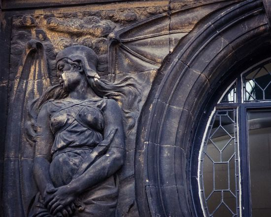I loved the smoked stone on the demonic wings. Aged Arch Architecture Art Bat Wings Creativity Demon Female Figure Glasgow  Historic History Human Representation The Architect - 2016 EyeEm Awards Old Ornate Religion Religious  Sandstone Sculpture Smoke Statue Stone Window Worn