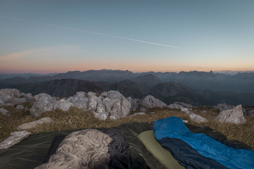Bivouac Bivvy Blue Hiking Hohes Brett Morning Mountains Sky Sleeping Bag Sunrise Camp Enjoy The New Normal Finding New Frontiers Miles Away