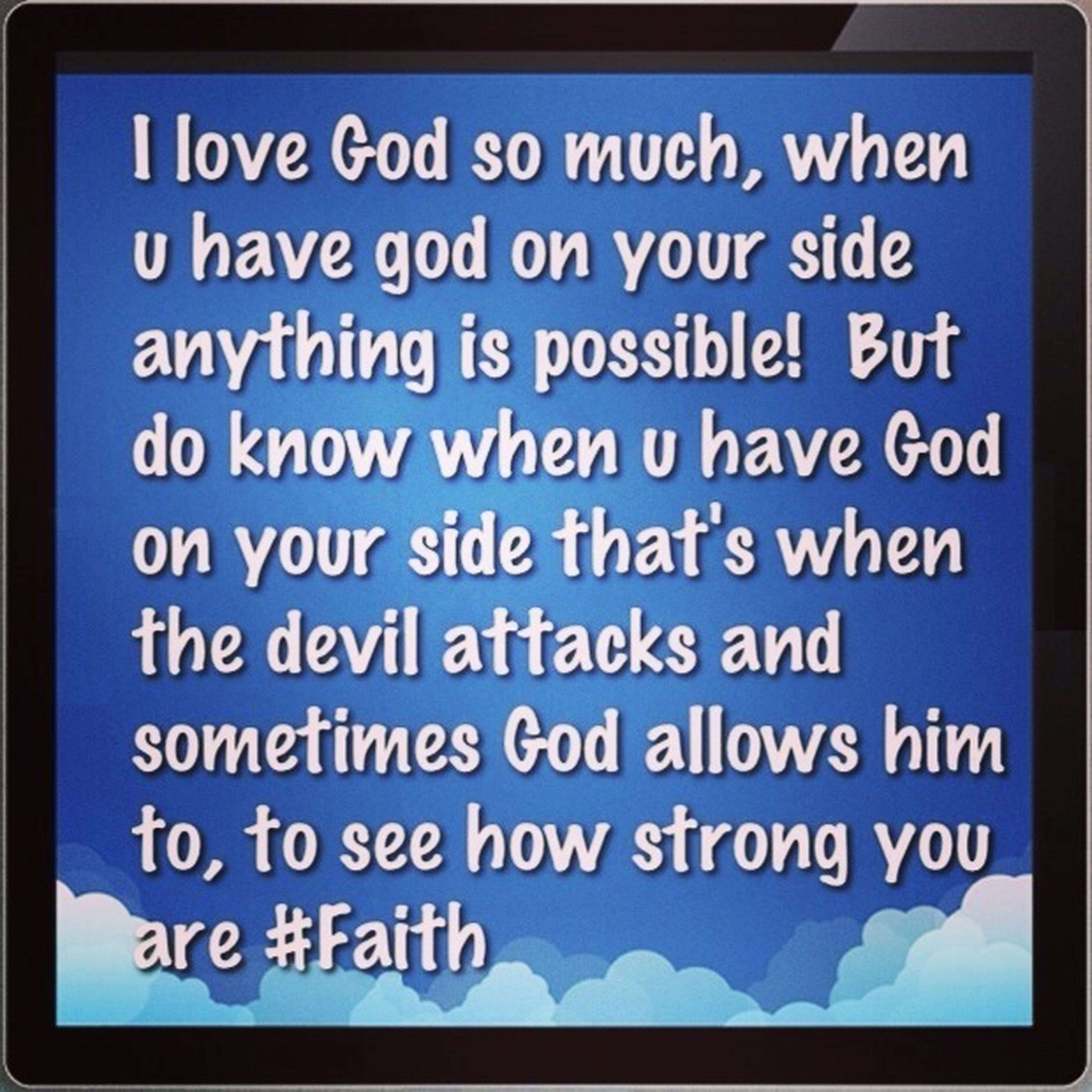 I Love God Just Thiught I Share My Thoughts