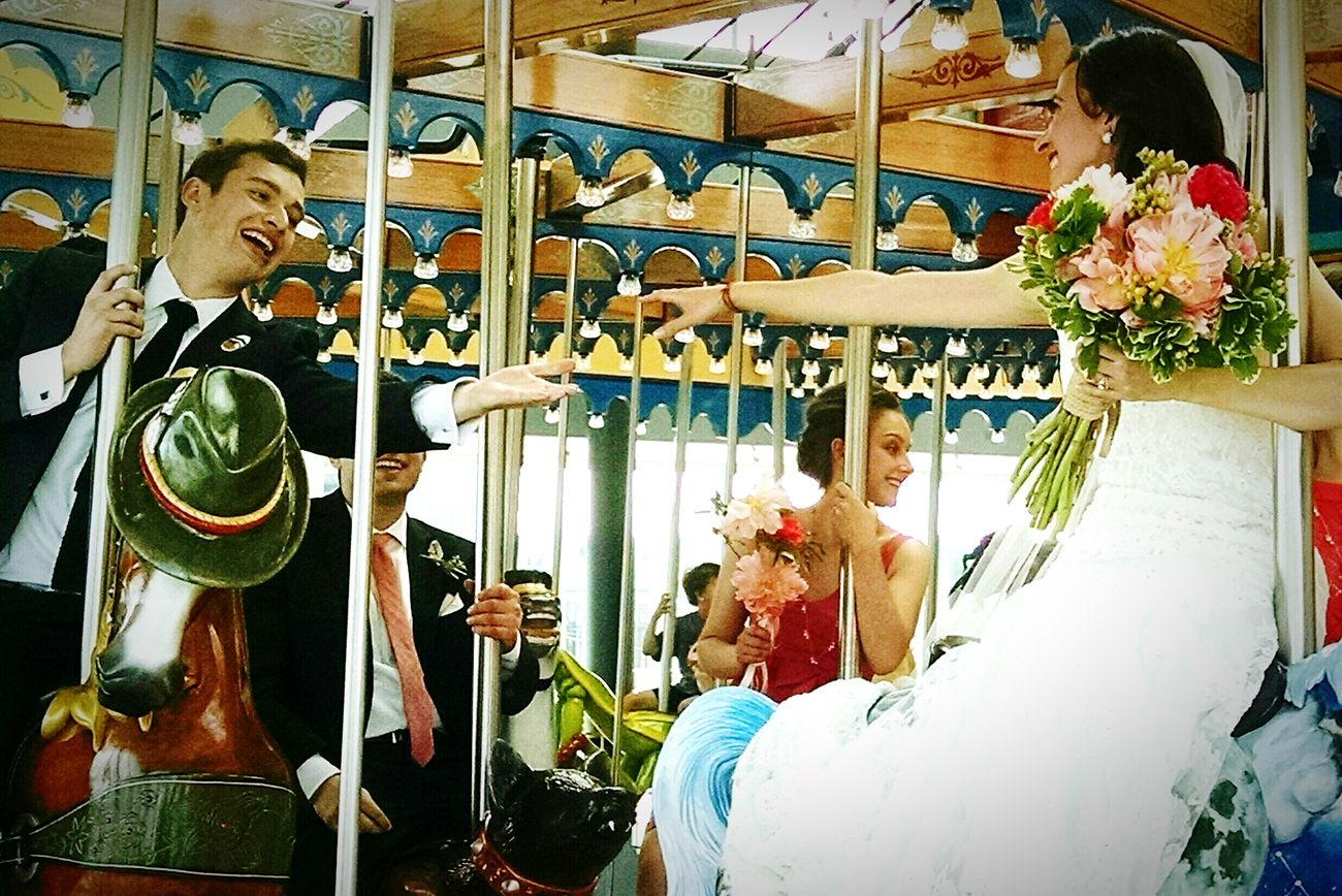 Taking Photos Randomshot Wedding Carousel City Life