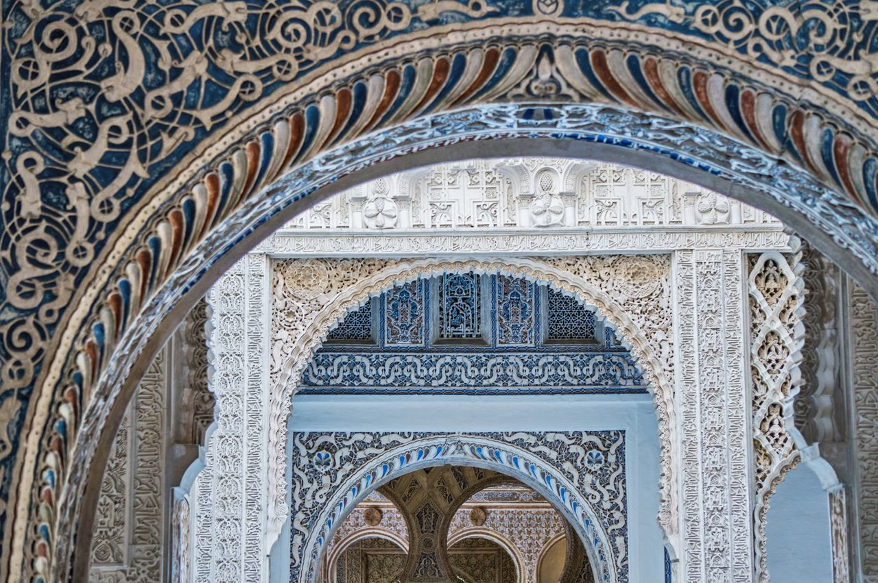 Mudéjar España Seville Sevilla ArtWork Arabic Architecture Alcazar Palace Multiple Layers Layers