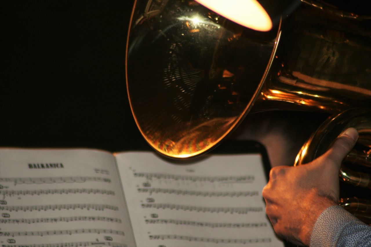 Close-up Hand Jazz Music Music Is My Life Part Of Skill  Still Life Tuba