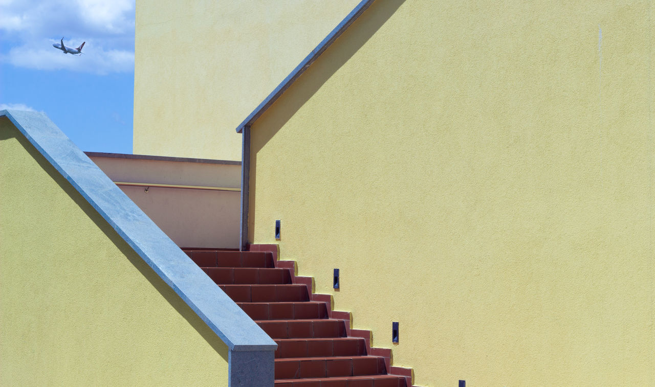 Arch Architecture Building Building Exterior Built Structure Canon Day Hand Rail Low Angle View No People Outdoors Phootshoot Photographer Photography Railing Sky Staircase Stairs Steps Steps And Staircases Street Street Art Street Photography Streetphoto_bw Yellow